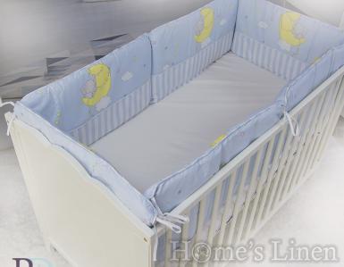 """Обиколник за бебешко легло """"Слонче в синьо"""""""