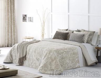 "Комплект луксозно шалте и декоративни калъфки жакард Antilo ""Natur"""