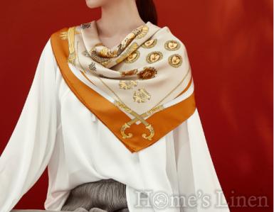 """Луксозен шал от естествена коприна """"Rejiis Aurum"""", EM&EVE"""