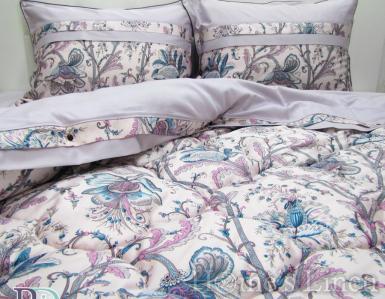 """Спално бельо с пролетно-есенна олекотена завивка и тик-так чаршаф 100% памучен сатен """"Арабела"""""""