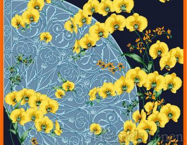 "Луксозен шал от естествена коприна ""Panifolia"", EM&EVE"