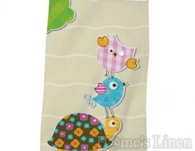 """Детска хавлиена кърпа DF печат """"Жълта костенурка"""""""