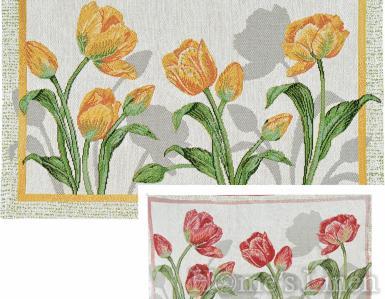 "Луксозна жакардова подложка за хранене ""Tulip Bloom"""