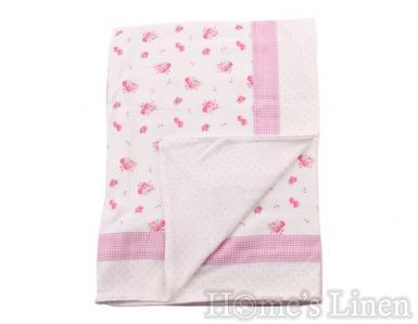 Лятно памучно одеяло 85х115 - различни десени