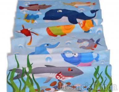 """Плажна кърпа с дигитален печат """"Под водата"""""""