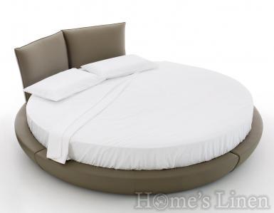 Долен чаршаф с ластик за кръгла спалня 100% памук - различни цветове