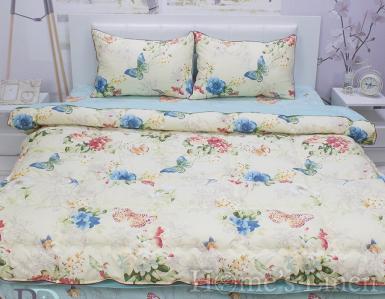 "Спално бельо с пролетно-есенна олекотена завивка и тик-так чаршаф 100% памучен сатен ""Мартина"""