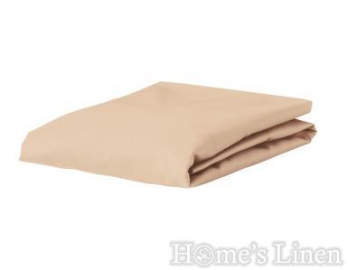 Долен чaршаф с ластик 100% памук дюс капучино