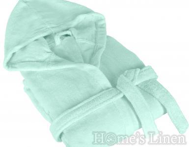 """Халат за баня с качулка 100% памук """"Пастел"""" - два цвята"""