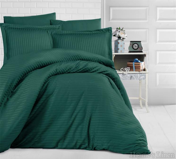"""Спален комплект памучен сатен-райе, 100% памук """"Uni"""" - различни цветове"""