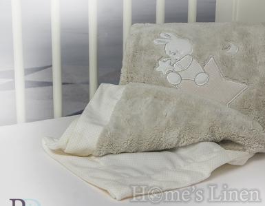 """Бебешко одеяло с апликация """"Доди"""" - различни цветове"""