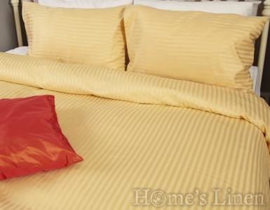 "Спално бельо - 2 части микро сатен ""Старо злато"""