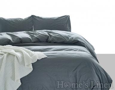 """Еднолицев спален комплект 100% памук """"Стоманено сиво"""""""