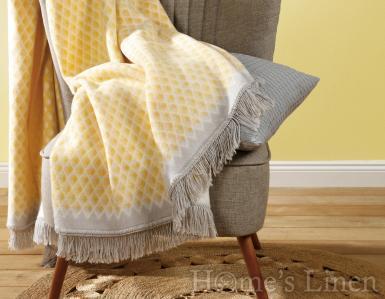 "Луксозно лятно одеяло с геометрични мотиви ""Bright Day Yellow"", Bright Day Collection"