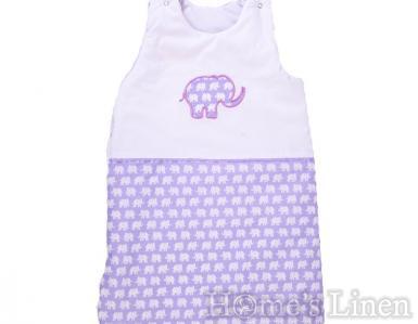 """Зимно бебешко спално чувалче """"Лилав слон"""" 70 cm"""