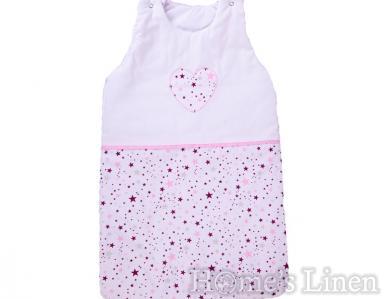 """Зимно бебешко спално чувалче """"Розови звезди"""" 90/105 cm"""