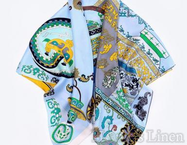 "Луксозен шал от естествена коприна ""Ferias"", EM&EVE"