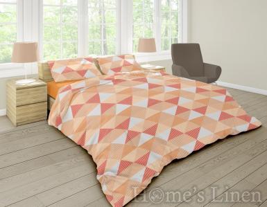 """Спално бельо 100% памук ранфорс """"Арлет"""" оранжево"""