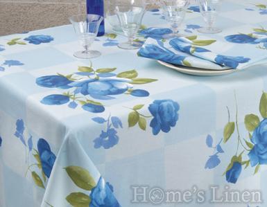"""Покривка за маса 100% памук """"Сини рози"""""""