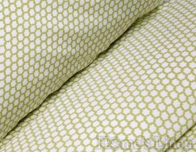 """Чаршаф с ластик за бебешко креватче 100% памук перкал """"Зелени облаци"""""""