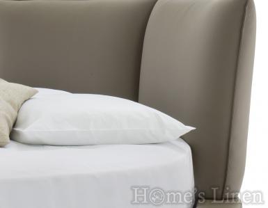 Луксозен долен чаршаф с ластик за кръгла спалня 100% памучен сатен - различни цветове
