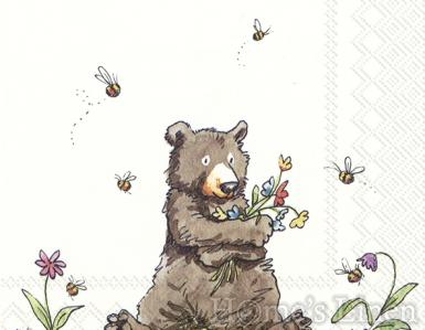 "Дизайнерски салфетки 20бр ""Honey Bear"", IHR"