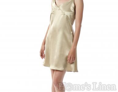 """Нощница от естествена коприна в телесен цвят """"Evie"""", EM&EVE"""