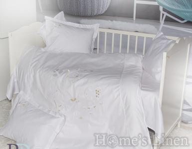 """Бебешки спален комплект 100% памук с бродерия """"Маймунка"""""""