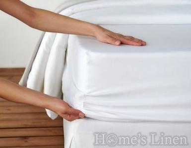 Долен чaршаф с ластик 100% памук дюс бяло