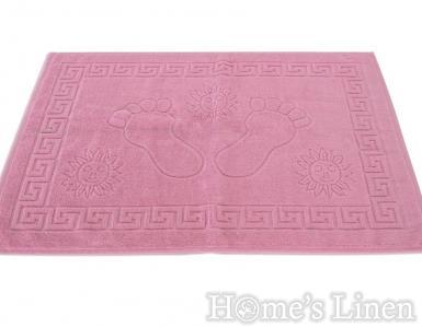 """Хавлиена кърпа за крака 100% памук """"Розово"""""""