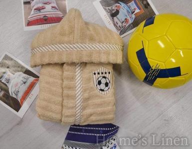 """Детски халат за баня 100% памук """"Футболна топка"""" - различни цветове"""