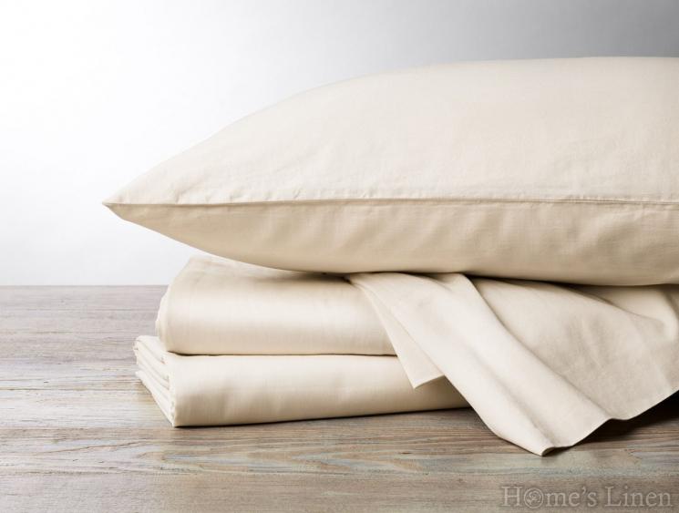 Луксозен долен чaршаф с ластик за кръгла спалня памучен сатен, 100% памук 300 нишки Premium Collection - различни цветове