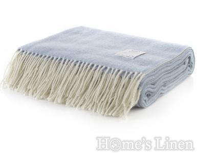 "Луксозно наметало/ одеяло мерино вълна ""Winterberry"" синьо"