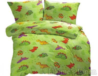 """Бебешко спално бельо 100% памук ранфорс """"Дино"""""""