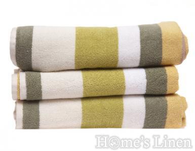 """Хавлиена кърпа 100% памук """"Зелено райе"""""""