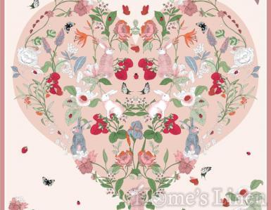 """Луксозен шал от естествена коприна """"Lepus et Rosas"""", EM&EVE"""