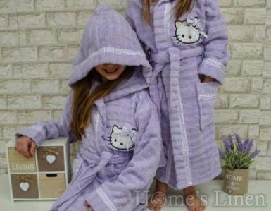 """Детски халат за баня 100% памук """"Кити"""" - различни цветове"""