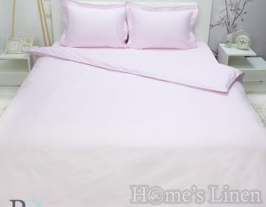 """Спално бельо 100% памучен сатен едноцветно """"Светло розово"""""""