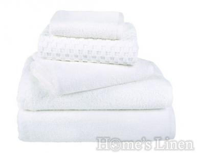 Хотелски хавлиени кърпи 100% памук бяло 450 гр/м2