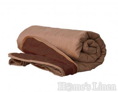 """Двулицево покривало за легло микрофибър """"Бежаво/ кафяво"""""""
