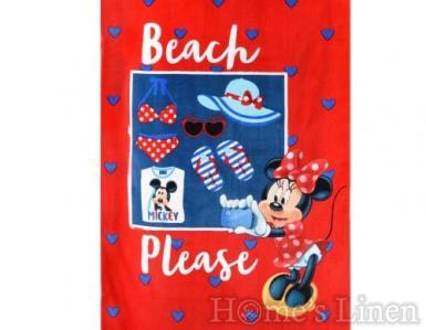 """Детска плажна кърпа 100% памук """"Мини - селфи"""""""