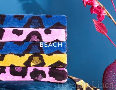 """Луксозна плажна кърпа Vossen """"Wildcat"""" - различни цветове"""