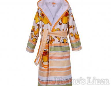 """Детски халат за баня DF печат """"Ква-ква"""" размер S и М"""