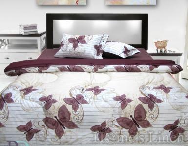 """Спално бельо с пролетно-есенна олекотена завивка и тик-так чаршаф 100% памук """"Пеперуди"""""""
