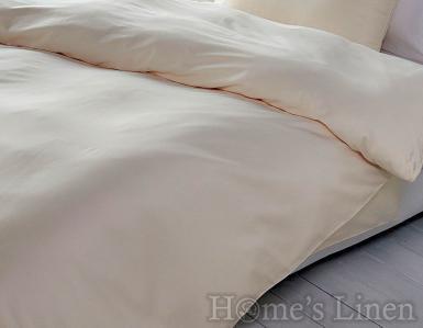 """Еднолицев спален комплект памучен сатен, 100% памук """"Светло екрю"""", Classic Collection"""