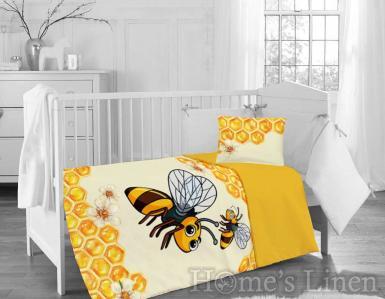 "Бебешки спален комплект 100% памук ранфорс ""Пчела"""