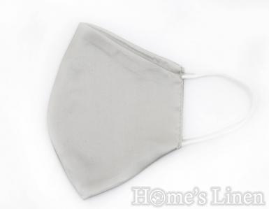 """Маска за лице от 100% естествена коприна """"Silver Grey"""", EM&EVE"""