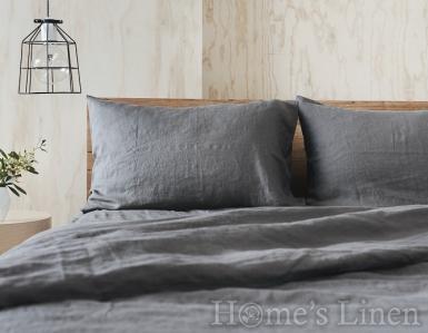 """Спален комплект от 100% естествен лен """"Стоманено сиво"""", Natural Linens Collection"""