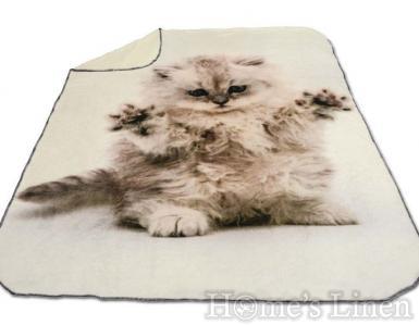 """Одеяло DF пано печат """"Коте"""""""