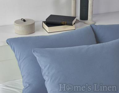 Комплект 2бр. калъфки за възглавници 100% памук морско синьо